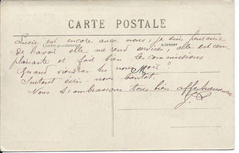CPA - 72 - Gare de Marçon-Vouvray - 1915 - Dos scanné