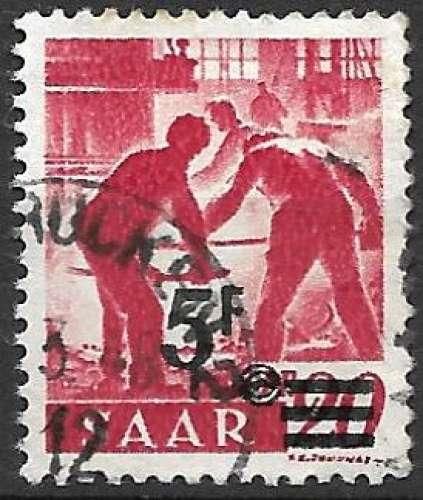 Sarre 1947 Y&T 222 oblitéré