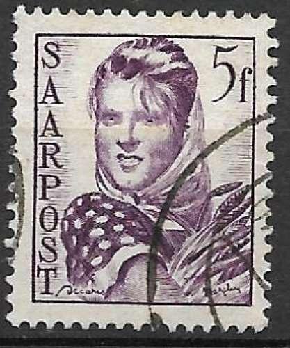 Sarre 1948 Y&T 237 oblitéré - Paysanne