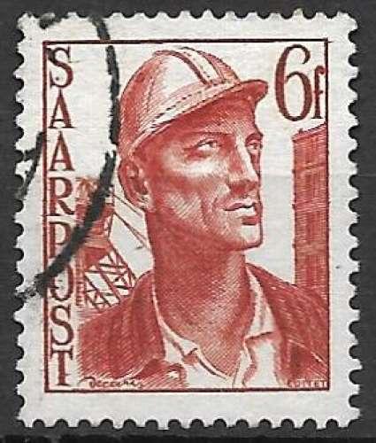 Sarre 1948 Y&T 238 oblitéré - Mineur