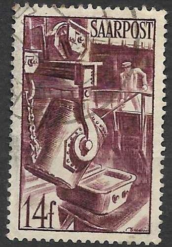 Sarre 1948 Y&T 241 oblitéré
