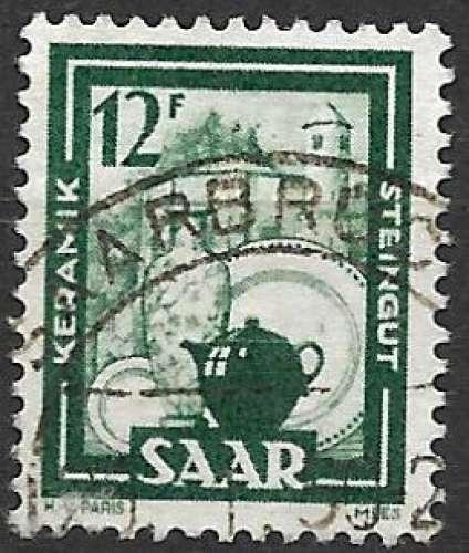 Sarre 1949-50 Y&T 259 oblitéré - Céramique