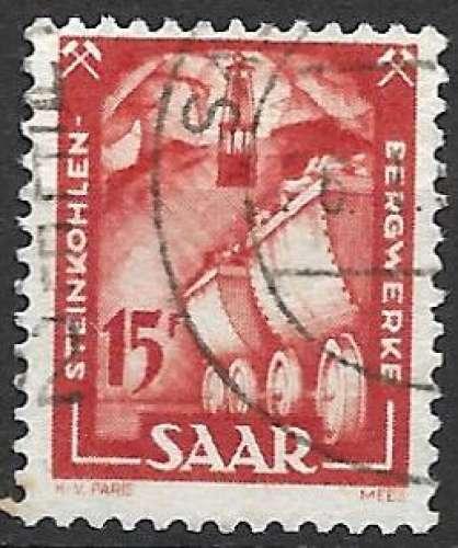 Sarre 1949-50 Y&T 260 oblitéré - Houillière