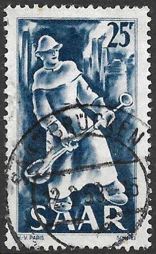 Sarre 1949-50 Y&T 261 oblitéré - Fonderie
