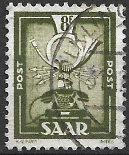 Sarre 1951 Y&T 286 oblitéré - Allégorie de la Poste