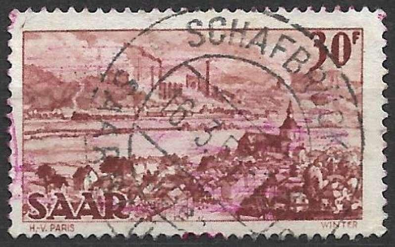 Sarre 1951 Y&T 288 oblitéré - Saint Arnual et forges de Brebach