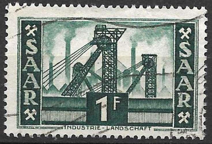 Sarre 1952-53 Y&T 306 oblitéré - Puits de mine