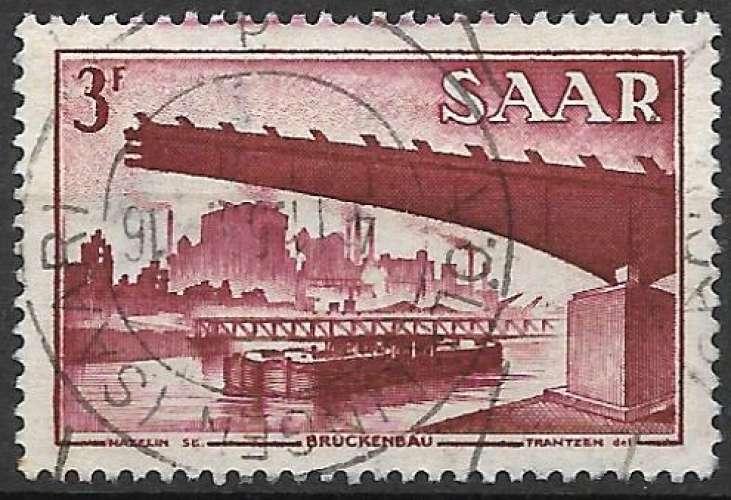 Sarre 1952-53 Y&T 308 oblitéré - Pont de Gersweiler