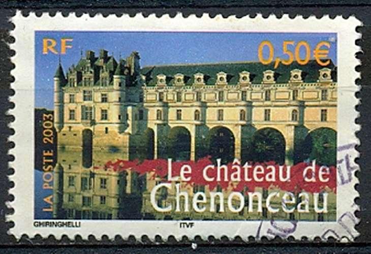 FRANCE   CHATEAU DE CHENONCEAU   Y.T. N° 3595  OBLITERE