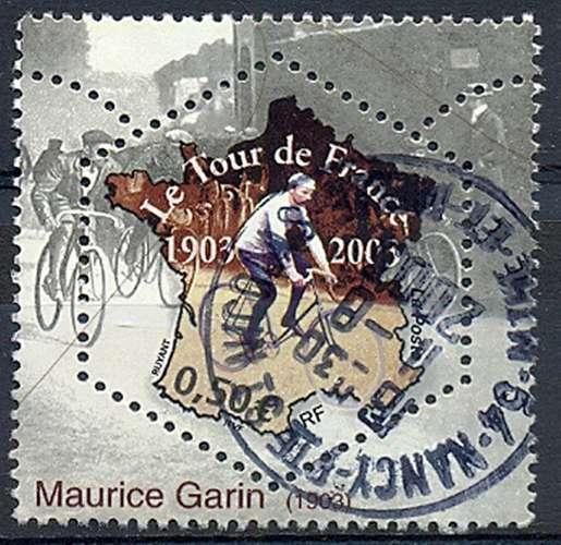 FRANCE   CENTENAIRE DU TOUR DE FRANCE   Y.T. N° 3582  BELLE OBLITERATION RONDE
