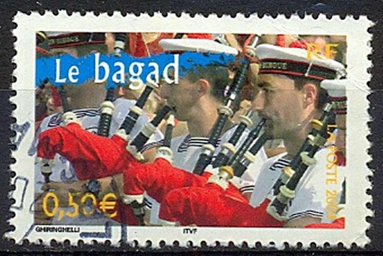 FRANCE   LE BAGAD   Y.T. N° 3655   OBLITERE