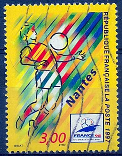 FRANCE  COUPE DU MONDE DE FOOT NANTES   Y.T. N° 3076   OBLITERE