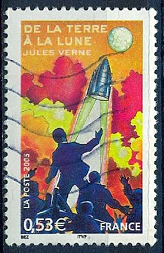 FRANCE  DE LA TERRE A LA LUNE   Y.T. N° 3790   OBLITERE