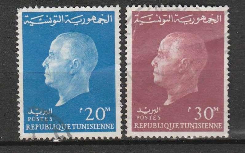 Tunisie 1962 YT 569 & 570 Président Bourguiba