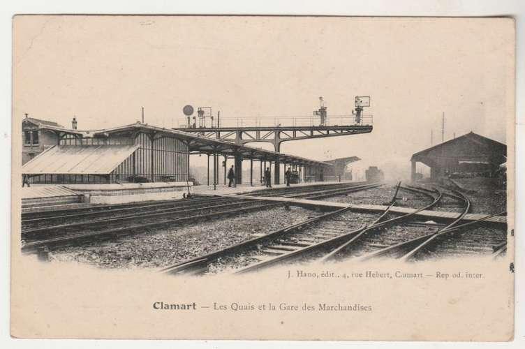 cpa  92    Clamart  Les Quais et La Gare des Marchandises