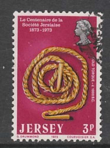TIMBRE OBLITERE DE JERSEY - TORQUE EN OR, VERS 1000 AVANT J.-C. N° Y&T 72