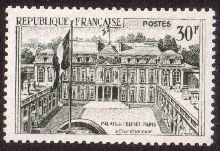 France 1959 Y&T 1192 * série touristique palais de l'Elysée 30 F cote 1,60€