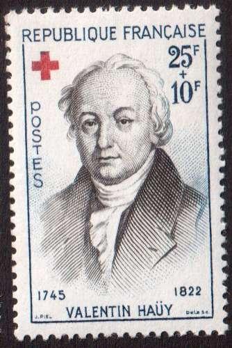 France 1959 Y&T  1227 ** croix rouge Valentin Hauy  cote 3,00€