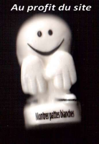 Au profit du site  2019 fève Montrer pattes blanches Smiley.com