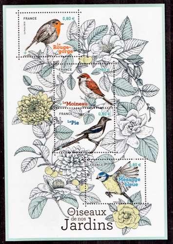 France 5239 5241 2018 oiseaux des jardins F neuf TB ** MNH sin charnela prix de la poste 3.2