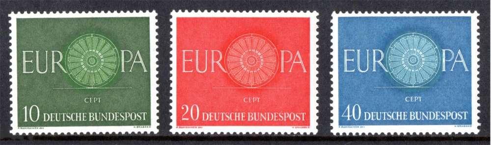 ALLEMAGNE 1960 Europa N° 210 à 202 * * Neufs. Réf. 13827