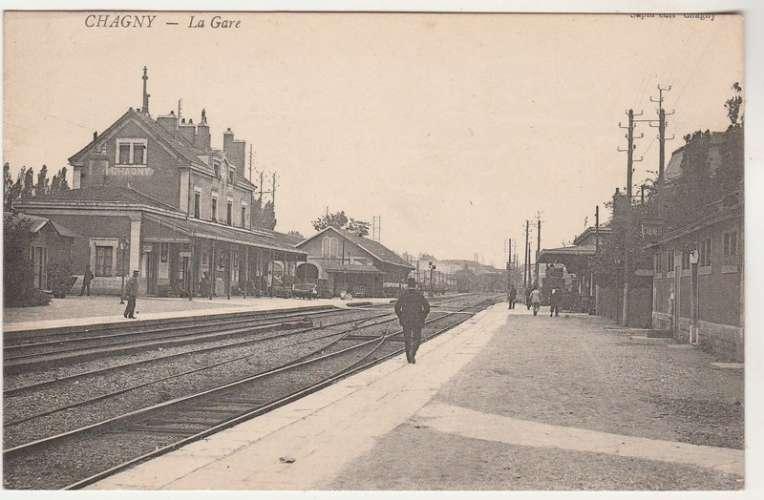 cpa 71 Chagny  la Gare