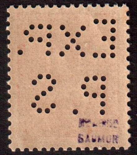 France 1943  Libération de Saumur Y&T 1 ** Pétain 70 c perforation EXP. P.S
