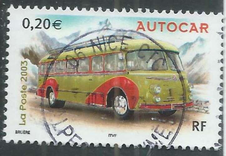 France - Y&T 3609 (o) - Autocar -