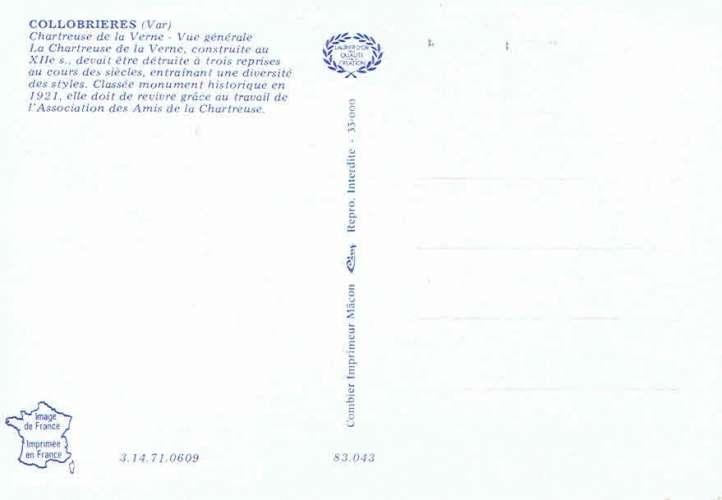 COLLOBRIÈRES : Chartreuse de la Verne