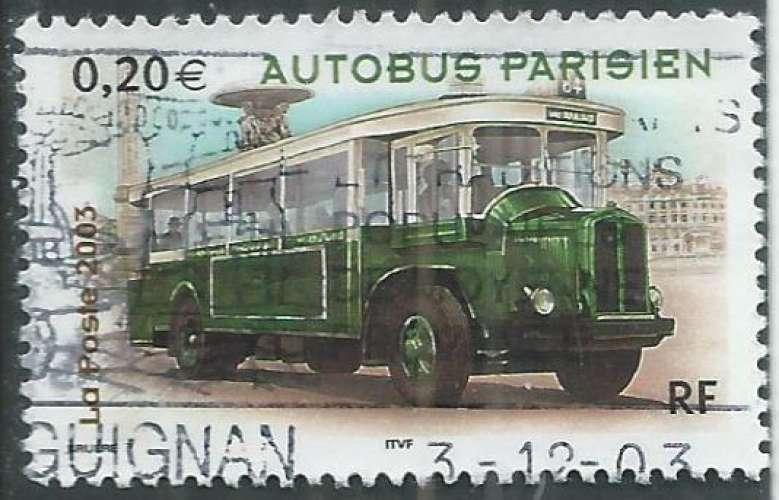 France - Y&T 3609 (o) - Autobus -