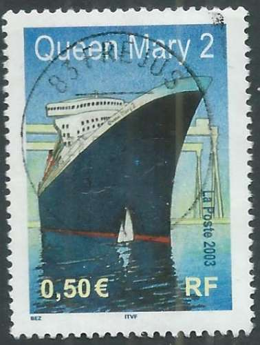 France - Y&T 3631 (o) - Le Queen Mary -