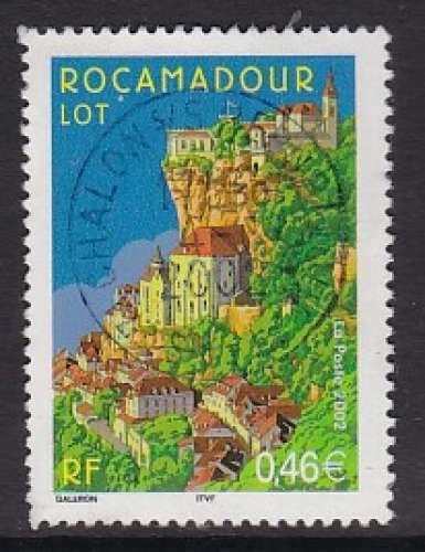 TIMBRE OBLITERE DE FRANCE - ROCAMADOUR N° Y&T 3492