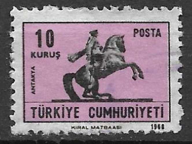 Turquie 1968 Y&T 1886 oblitéré - Statue équestre d'Ataturk