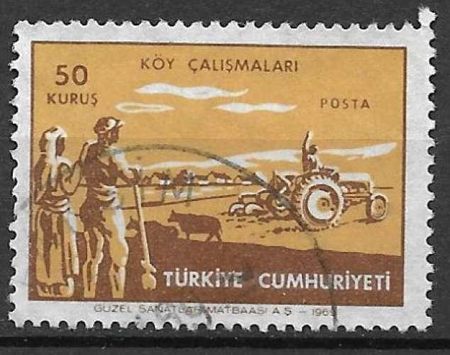 Turquie 1969 Y&T 1907 oblitéré - Motoculture