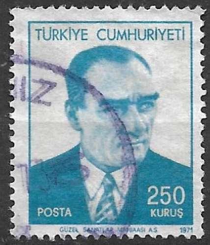 Turquie 1971 Y&T 1986 oblitéré - Kemal Ataturk
