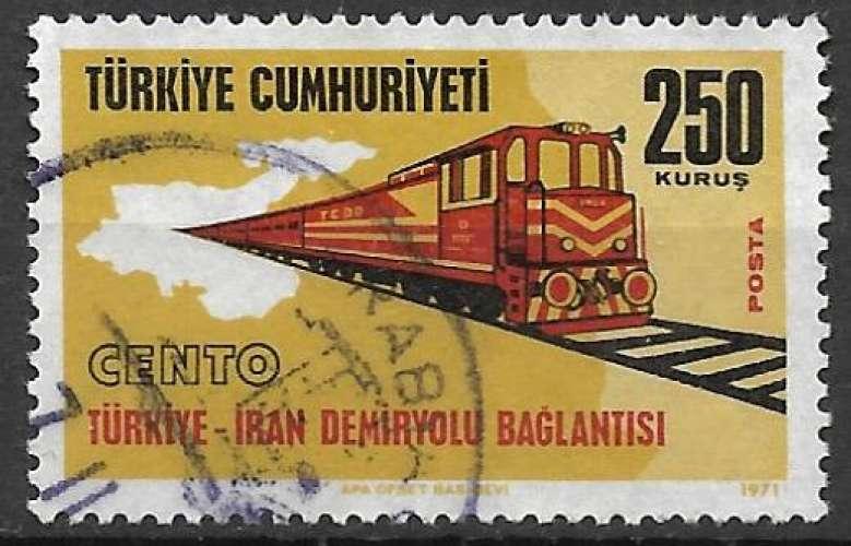 Turquie 1971 Y&T 2009 oblitéré - Liaison Turquie Iran