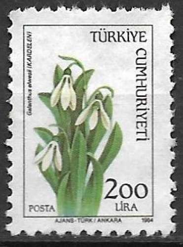 Turquie 1984 Y&T 2443 oblitéré - Galanthus Elwesii