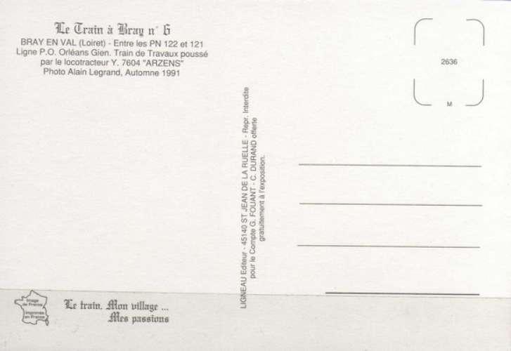 TàB 06 - Train de travaux - Locotracteur Y 7604 - BRAY EN VAL - Loiret - SNCF