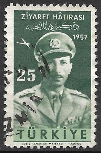 Turquie P.A. 1958 Y&T 30 oblitéré - Visite du Roi d'Afghanistan