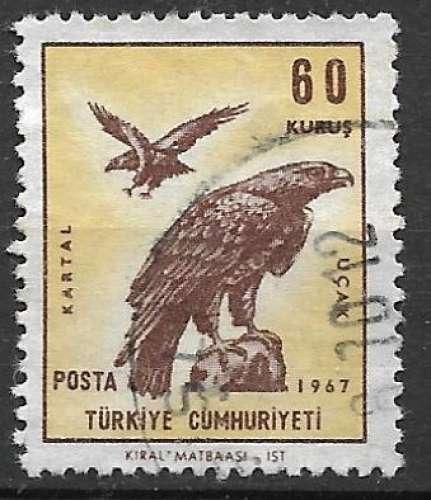 Turquie P.A. 1967 Y&T 48 oblitéré - Aigle royal