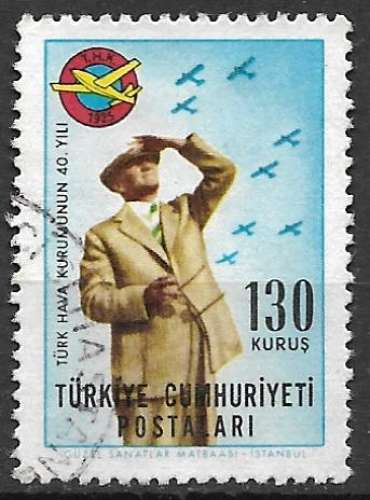 Turquie 1965 Y&T 1720 oblitéré - 40è anniversaire de l'association nationale d'aviation