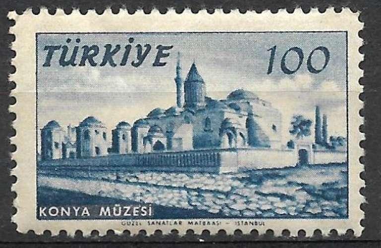Turquie 1957 Y&T 1340 neuf sans charnière - Musée de Konya (scan dos)