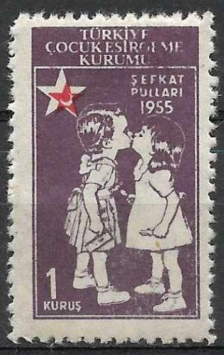 Turquie Bienfaisance 1955 Y&T 188 neuf sans charnière (scan dos)