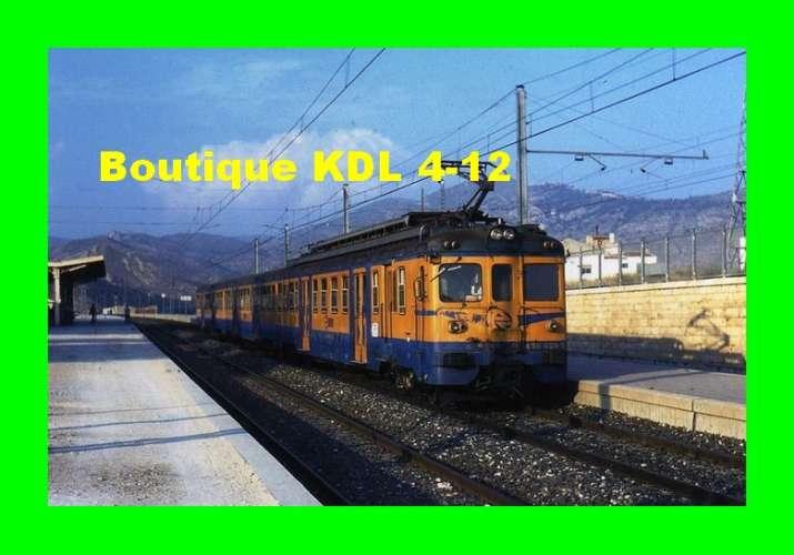 Train Bleu Z 103 - Automotrice 436-029 3 en gare - ELDA - Alicante - Espagne - RENFE