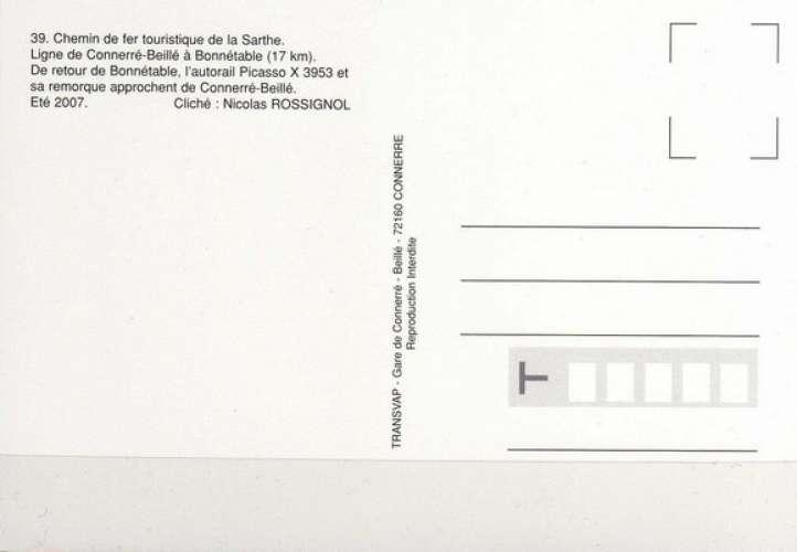 Transvap 39 - Autorail Picasso X 3953 vers CONNERRE-BEILLE - Sarthe