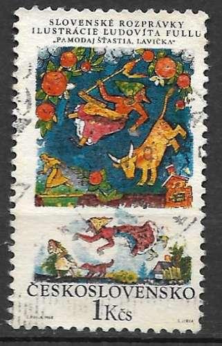 Tchecoslovaquie 1968 Y&T 1695 oblitéré - Contes slovaques - Que Dieu vous bénisse