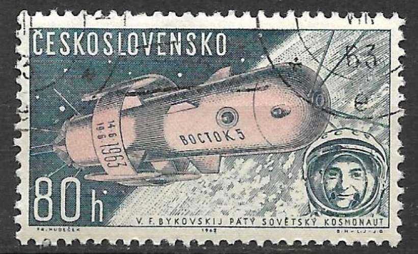 Tchecoslovaquie P.A. 1963 Y&T 59 oblitéré - Vostok 5