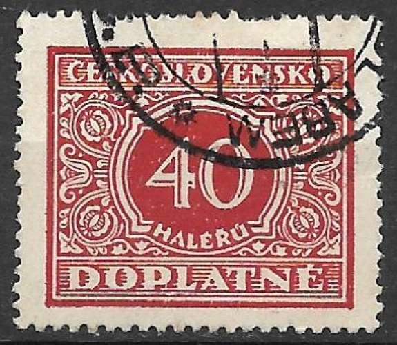 Tchecoslovaquie Taxe 1928 Y&T 59 oblitéré