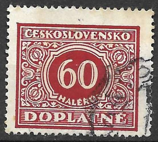 Tchecoslovaquie Taxe 1928 Y&T 61 oblitéré