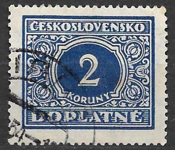 Tchecoslovaquie Taxe 1928 Y&T 63 oblitéré (trace de charnière)